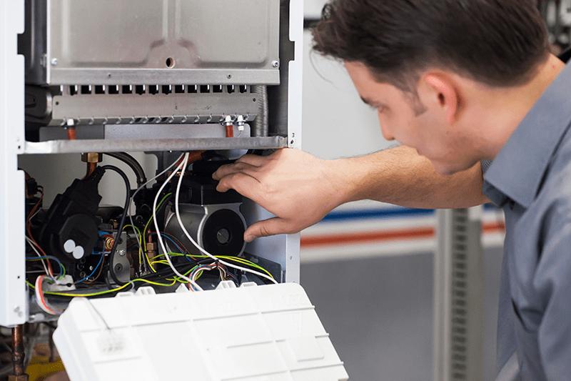 HVAC technician working